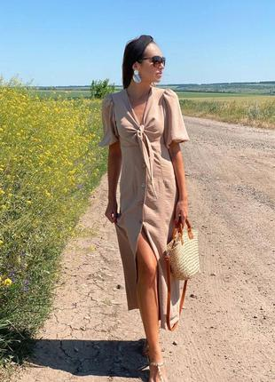 Платье креп лен