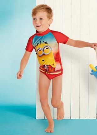 Плавальный костюм для плаванья пляжный миньйон lupilu