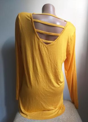 Необычный лонгслив. туника. футболка с длинным рукавом. желтый. оранжевый.