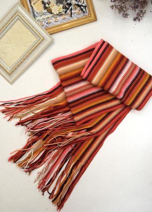 Тёплый яркий шарф 🍂🍁🍃