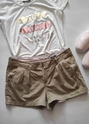 Натуральные шорты из тонкого коттона, хлопка от h&m, размер евро 42