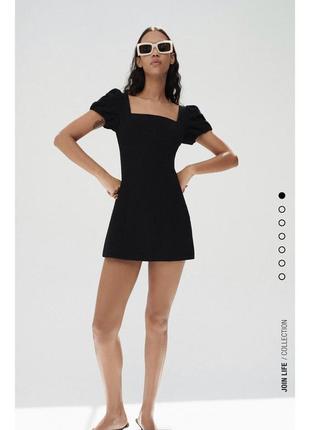 Платье льняное мини со шнуровкой сзади льняное лён zara оригинал
