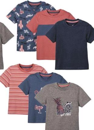 Набор новых футболок lupilu мальчик цена за набор 3 шт.