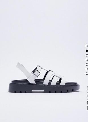 Кожаные сандали босоножки натуральная кожа zara оригинал