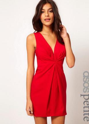 Шикарное красное платье asos