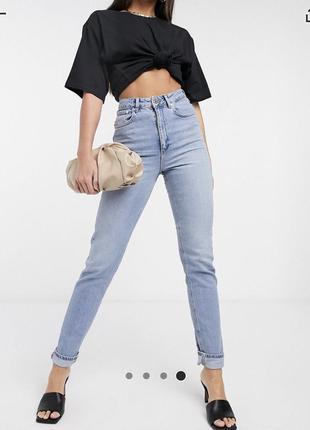 Джинсы, asos, асос джинси штаны высокая талия, посадка завышенная
