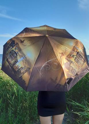 Viva umbrella атласный шикарный женский зонт автомат антиветер