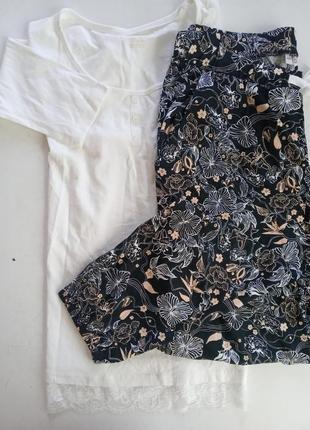 Натуральная пижама домашний костюм германия2 фото