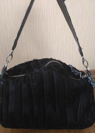 Кожаная сумка хобо gaby