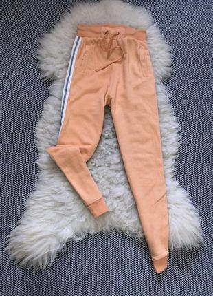 Спортивные прогулочные штаны брюки манжеты двунить лампасы высокая посадка