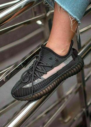 Женские летные кроссовки adidas yeezy 350 black