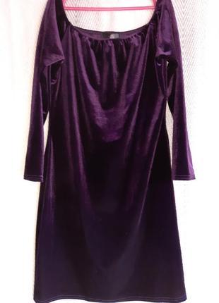 Шикарное вечернее женское платье. велюровое летнее короткое платье miss guided. 16 размер.