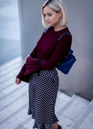 Ava june шикарная трендовая блузка с плиссированными деталями м