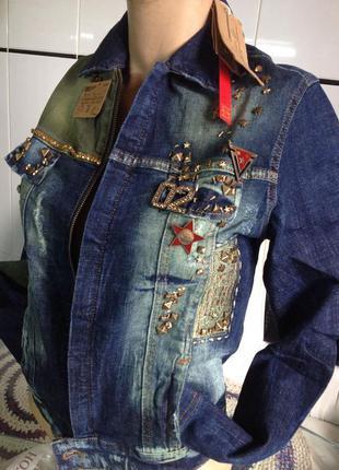 Джинсовый жакет - куртка бренда raw