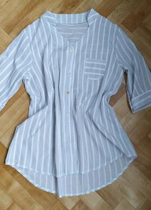 ❤️распродажа легкая, новая женская рубашка в полоску, блуза, блузка