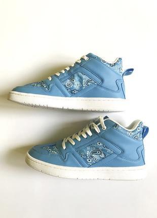 Синие высокие кроссовки asos design dante
