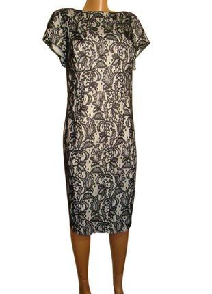 Платье гипюровое черное f&f