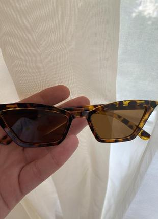 Bershka очки леопардовые
