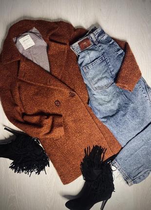 Пальто букле от zara