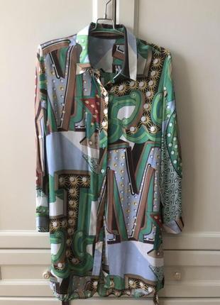 Шелковое платье - рубашка