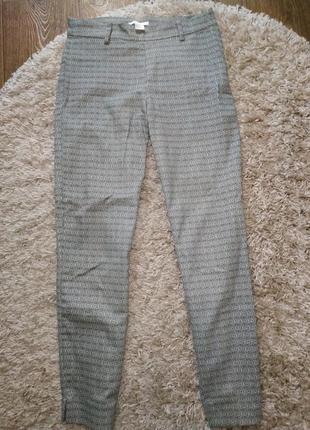Классические брюки штаны в мелкий принт деловые для работы учебы