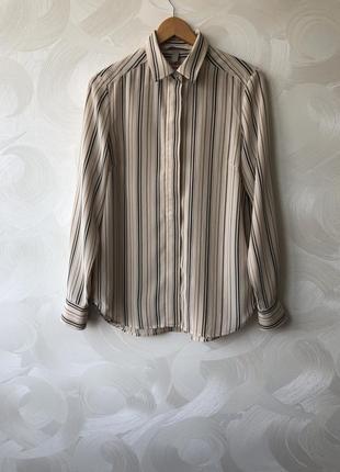 Шёлковая блузка рубашка h&m