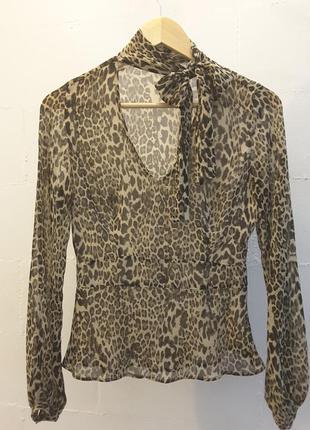 Шифоновая блуза next леопардовый принт