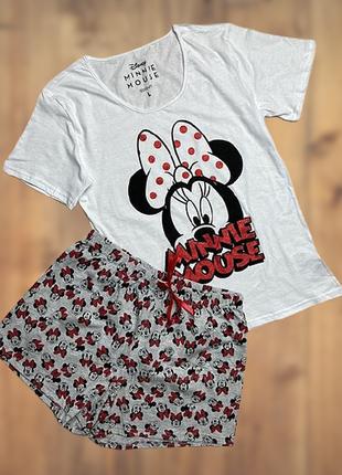 Женская тематическая футболка minnie mouse с шортами домашний костюм германия