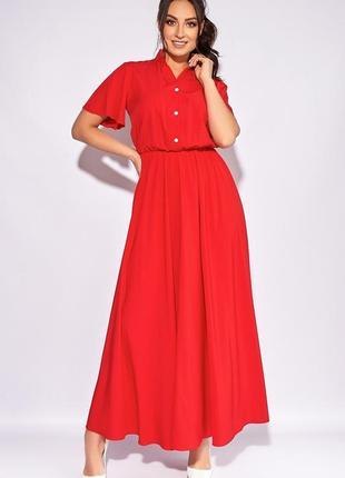 Длинное платье-рубашка клеш в пол, 50-64