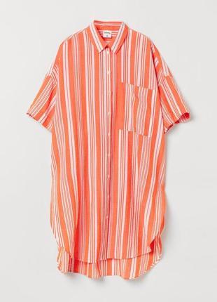 Платье рубашка лемлем&н&м