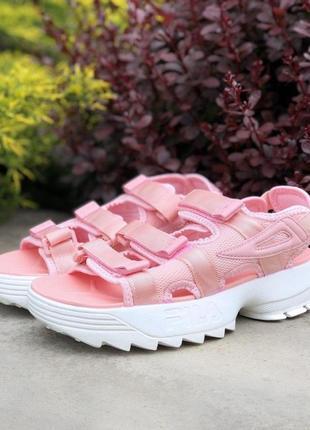 Fila сандалі рожеві