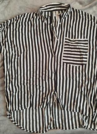 Классная летняя рубашка stradivarius oversize
