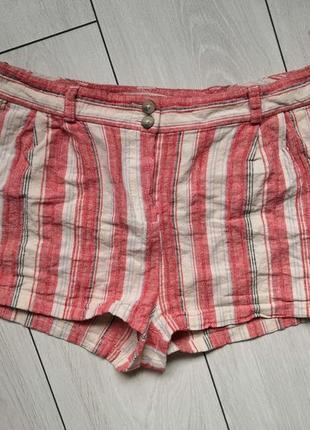 Льняные шорты короткие натуральная ткань шорти шортики