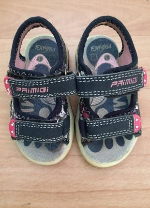 Кожаные босоножки primigi с мигающей подошвой, сандали primigi