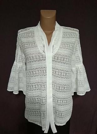 Гипюровая легкая блузочка