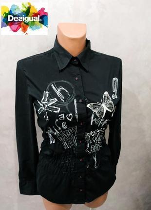 385. красивая стильная блуза с застежкой на пуговицы desigual