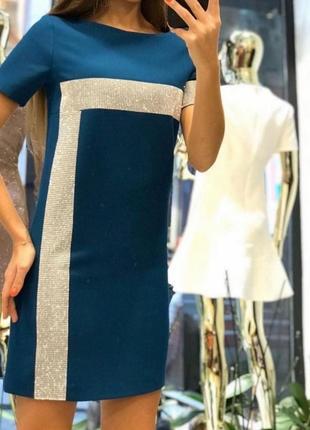 Невероятное платье,камни, качество люкс, размер м.