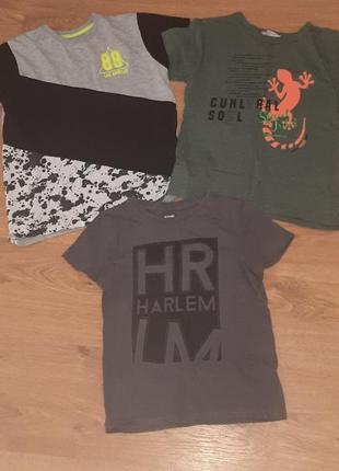 Набор 3шт футболка на 110-116см 4-6лет