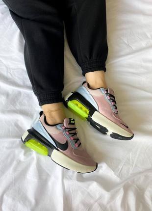 """❤ женские пудровые кожаные кроссовки  nike air max verona """"pink/green ❤"""