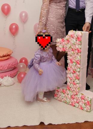 Нарядное платье  на годик для маленькой принцессы