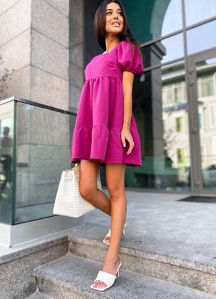 Красивое платье с пышными  рукавами5 фото