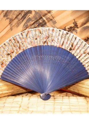 Элегантный ручной шелковый веер+бамбук