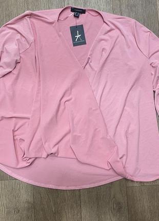 Кофточка блуза большой размер на запах