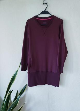 Платье удлиненный свитшот на флисе с карманами  bam вискоза+органик котон