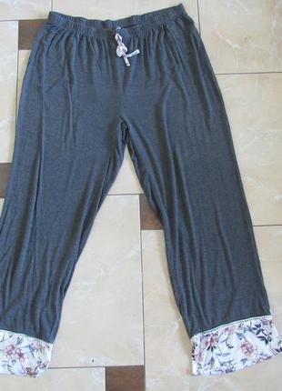 Женские летние пижамные штаны большой размер xxl, пижамные штаны батал