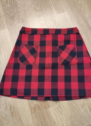 Короткая юбка в клетку h&m