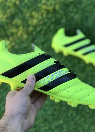Бутсы adidas ace 16.3 fg leather/кожа