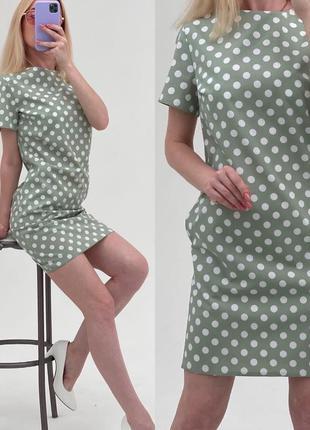 Платье летнее мини короткое легкое с яркое батал