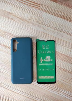 Комплект чехол бампер + стекло 9d на смартфон realme 6 pro