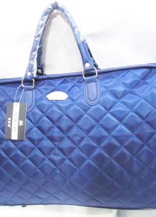 Стильная дорожная синяя сумка ручная кладь